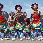 Zulu traditional clad dancers and singer